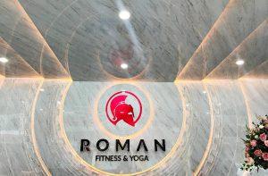 thiết kế thi công phòng gym Roman - lễ tân - by hcall