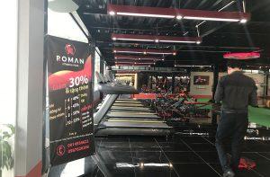thiết kế thi công phòng gym Roman - phòng gym - by hcall
