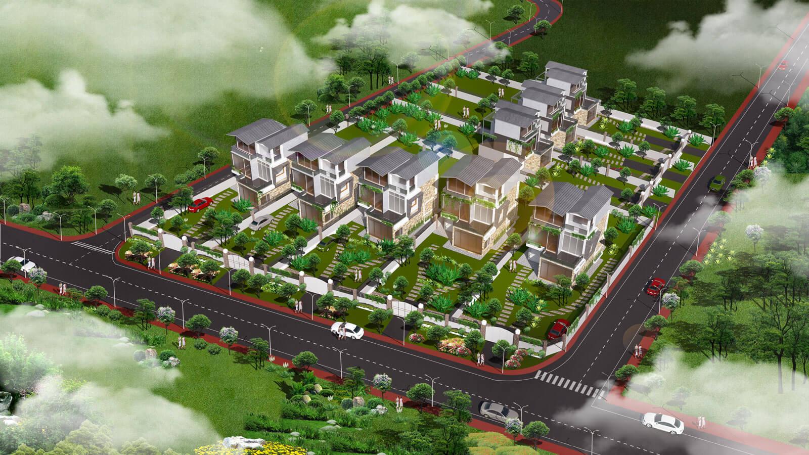 Thiết kế phối cảnh 3D khu bất động sản Hồ Tràm Central Land, bởi hcall