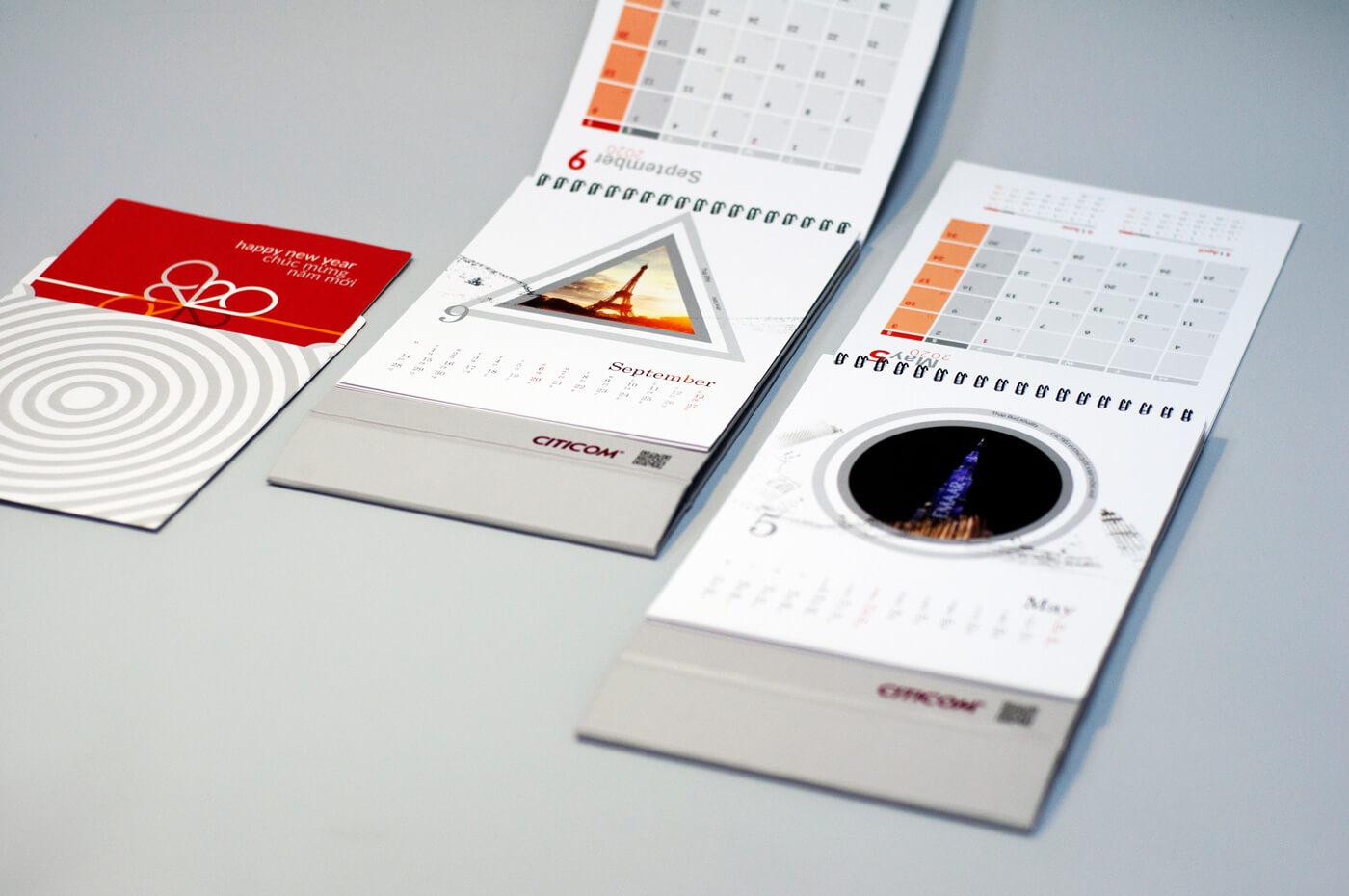 Thiết kế bộ lịch năm mới Citicom 2020