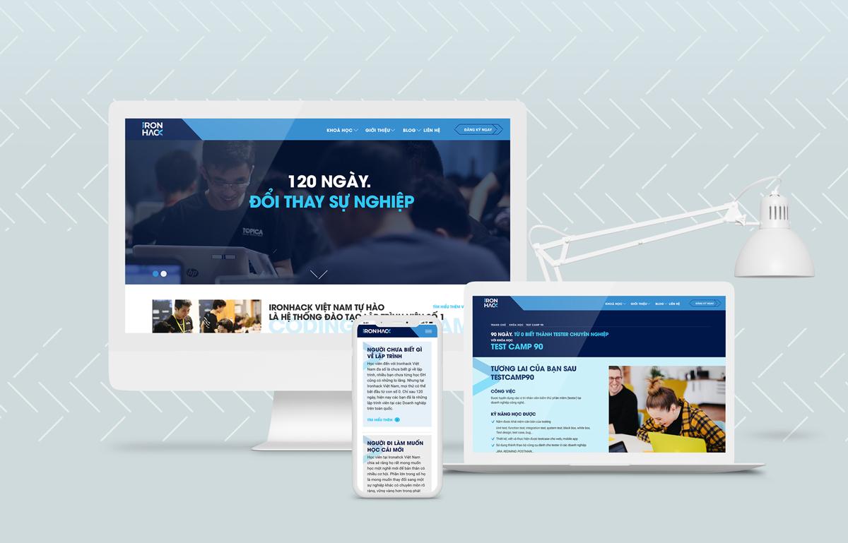 Thiết kế website coding bootcamp Ironhack