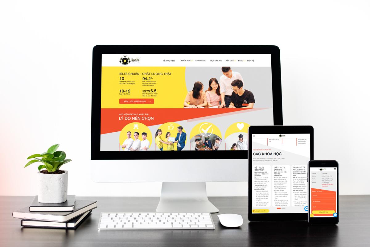 Thiết kế website Trung tâm tiếng anh Xuân Phi