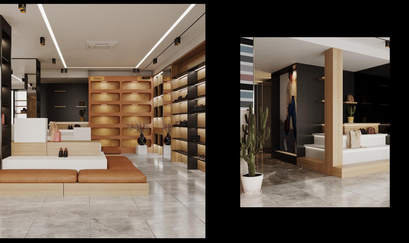 Thiết kế nội thất shop đồ da Dodavi - hcall design